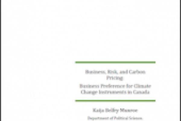 Affaires, risque et prix du carbone