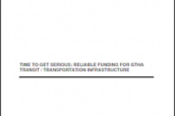 On y va! : Du financement fiable pour les infrastructures de transport du Grand Toronto-Hamilton