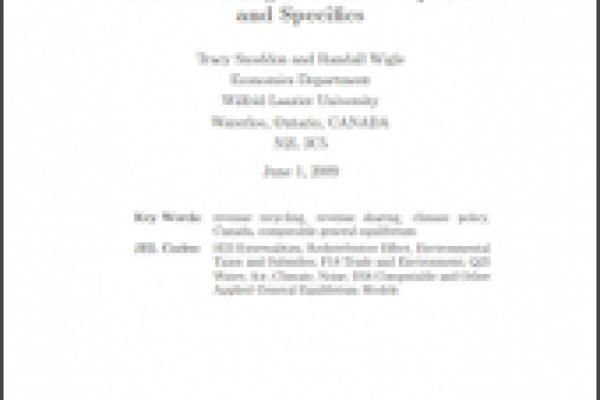 La tarification du carbone au Canada : Options et particularités