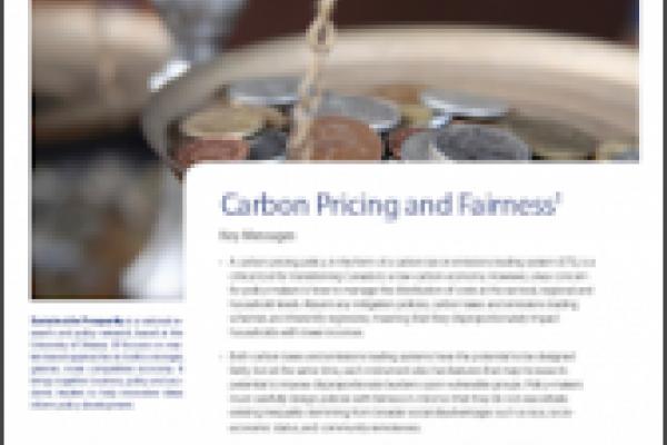 La tarification du carbone et la justice sociale